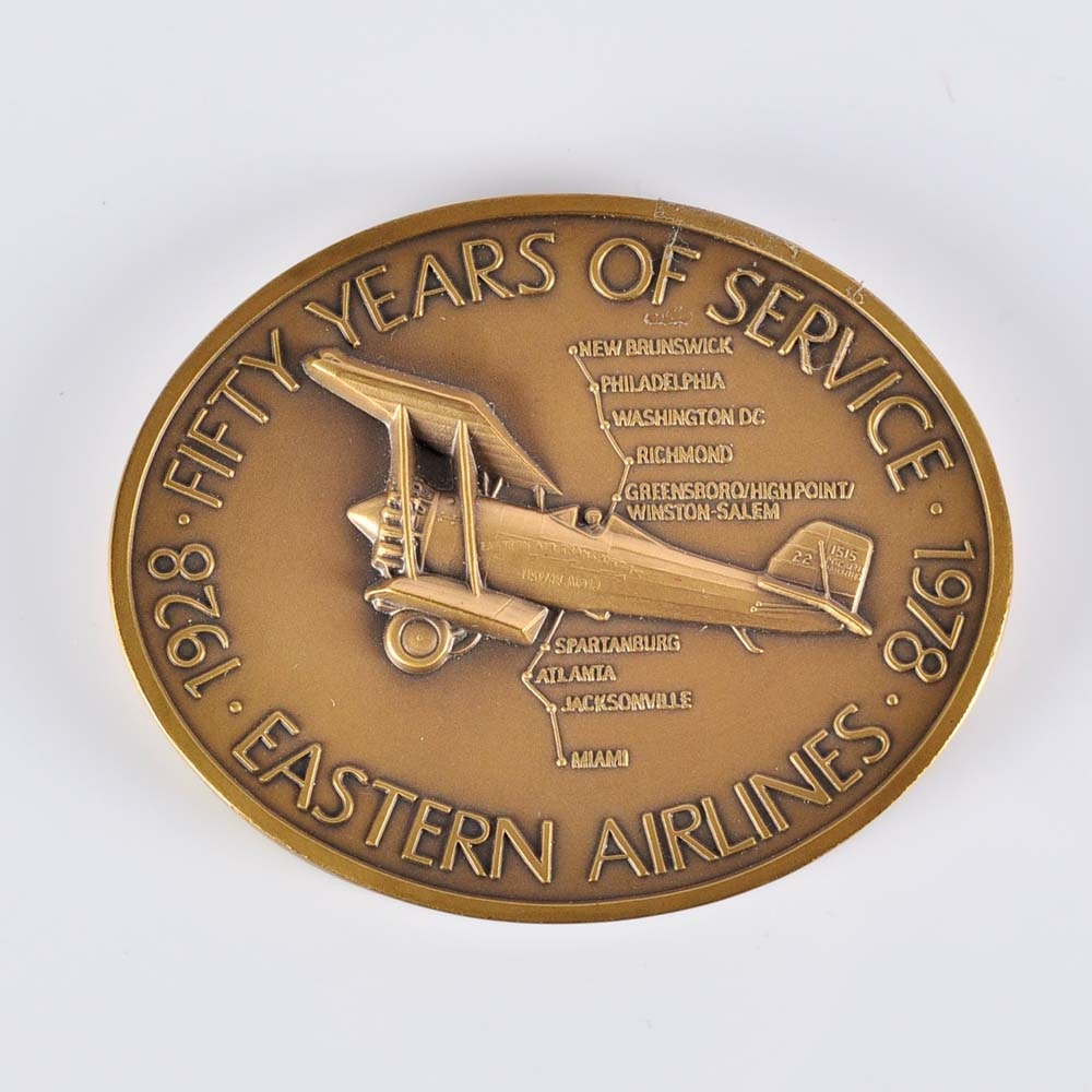 Eastern Airlines 50th Anniversary Medallion