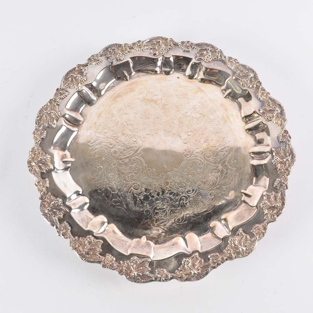 Vintage Barbour Nickel Silver Salver