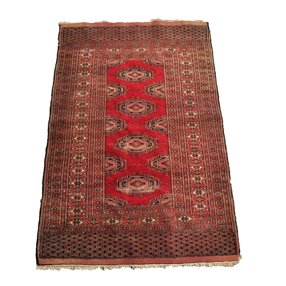 Hand Knotted Anatolian Turkmen Wool Accent Rug