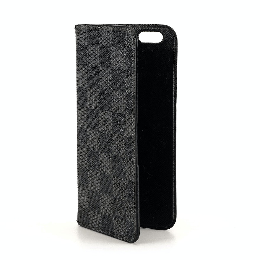 new style 57690 82e2c Louis Vuitton Damier Graphite iPhone 6 Plus Folio Case