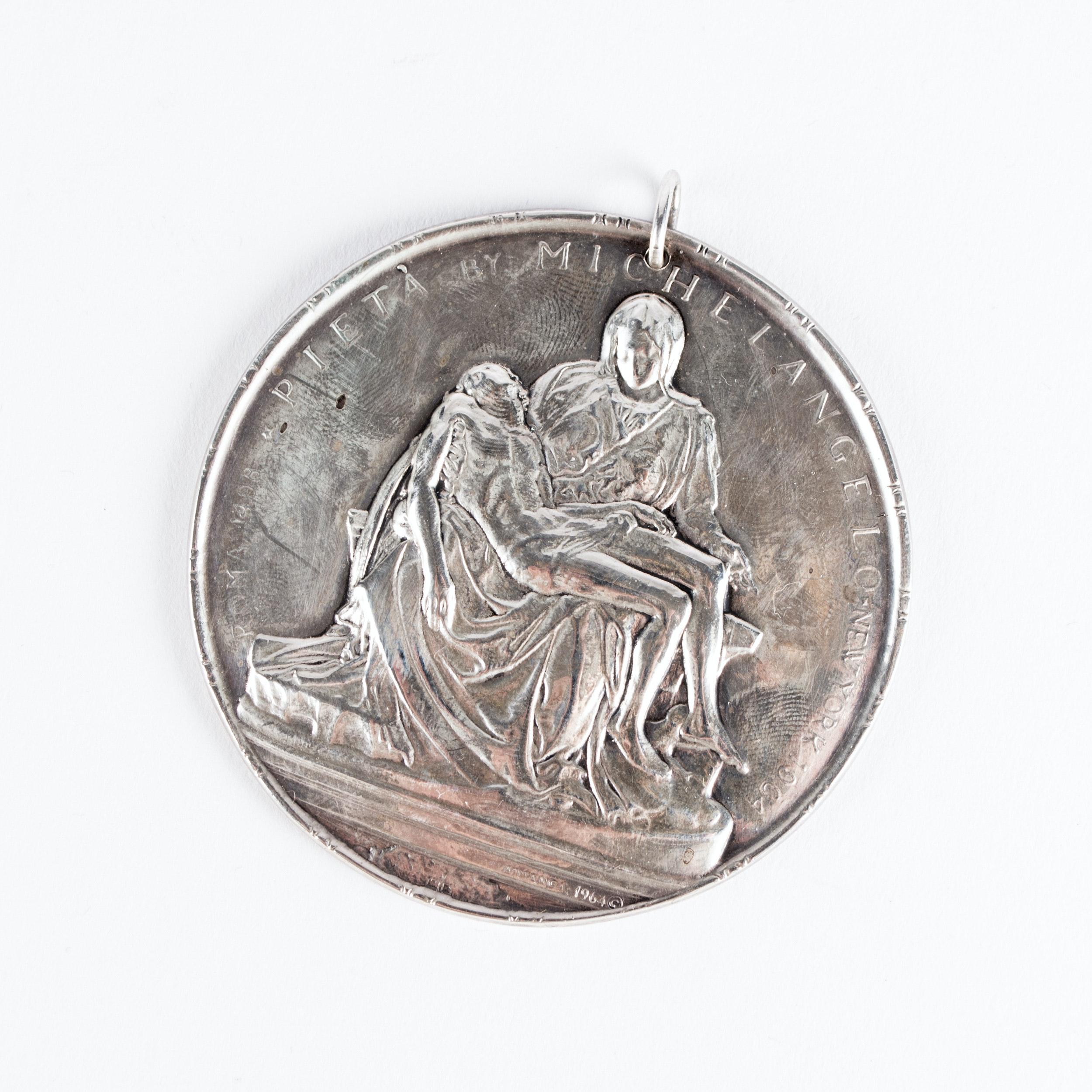 "Towle ""Pieta"" Sterling Silver Medallion"