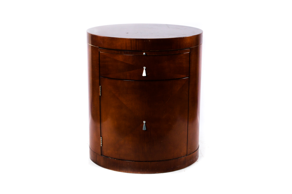 Barrel Shaped End Table from Baker Furniture EBTH