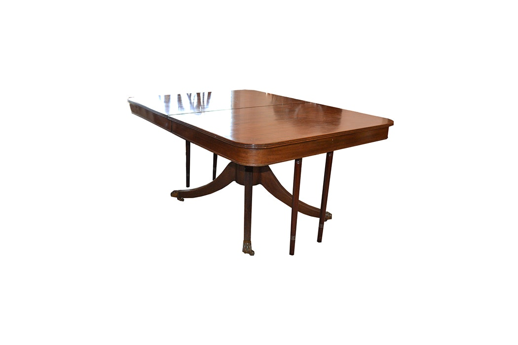 Duncan Phyfe Style Mahogany Dining Table By Potthast Bros ...