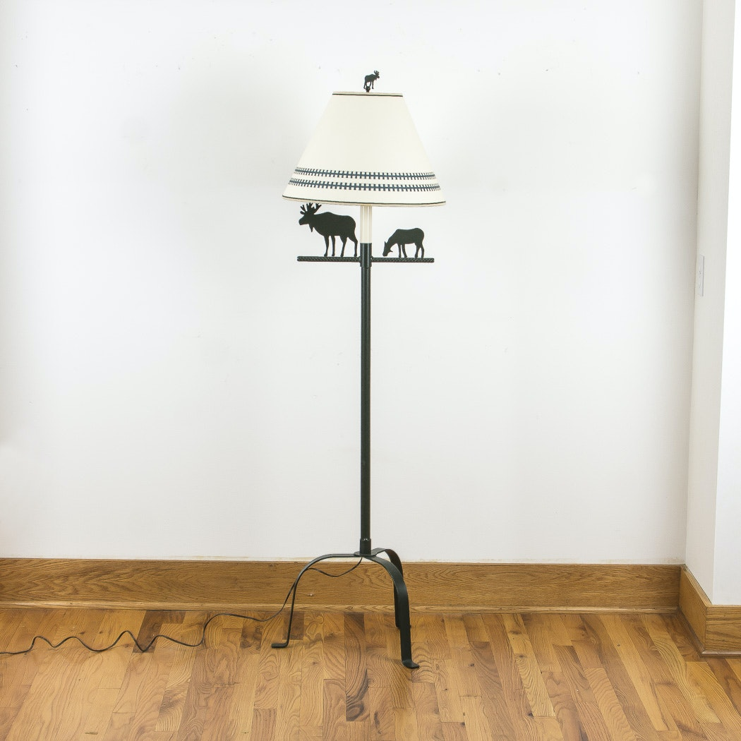 Moose Motif Floor Lamp