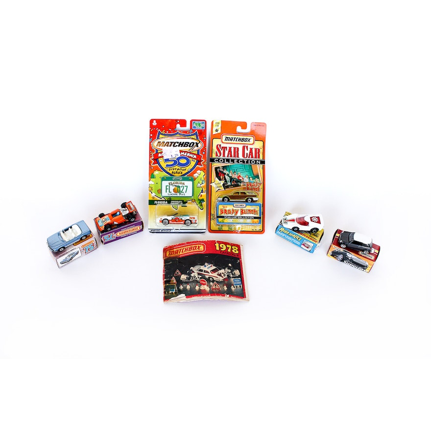 Collection of Vintage Matchbox Cars and 1978 Matchbox Catalogue