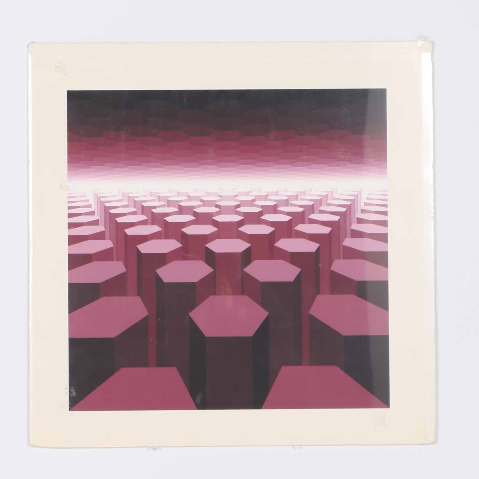 Jean-Pierre Vasarely Yvaral Limited Edition Serigraph