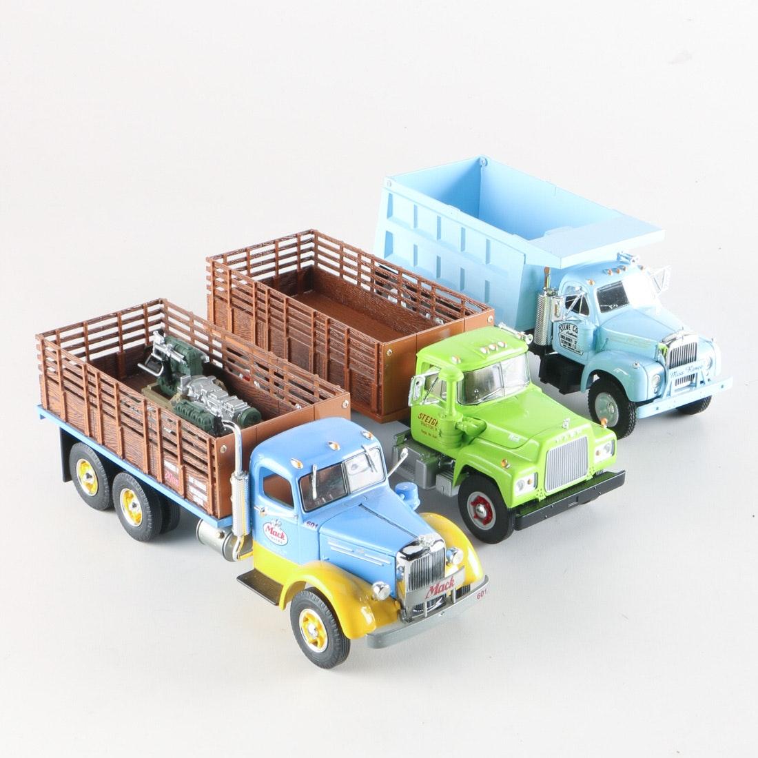 Three First Gear 1:34 Scale Mack Trucks