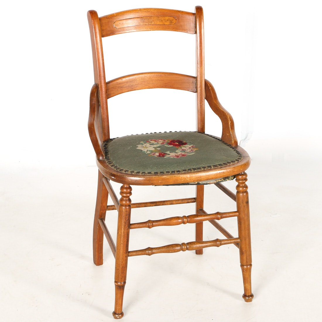 Crewel Embroidered Chair