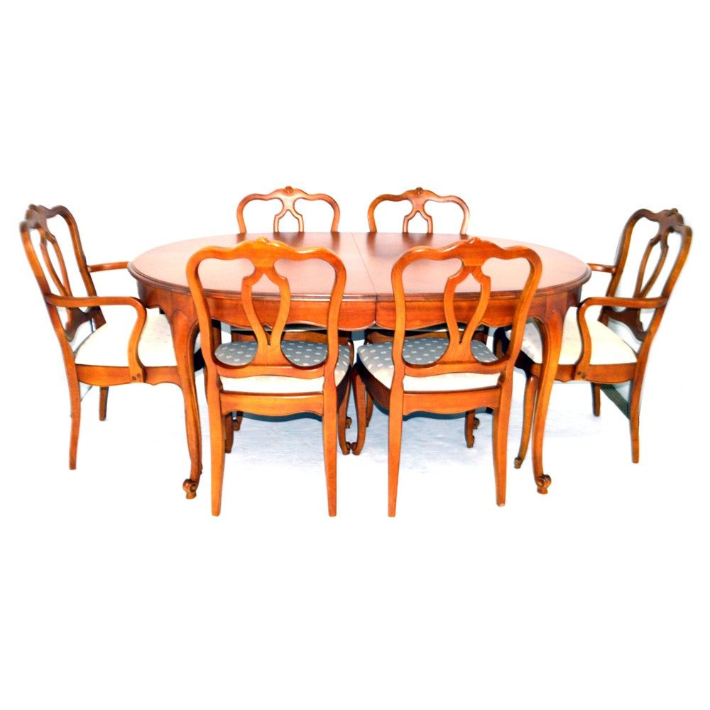 Drexel Dining Table with Six Chairs