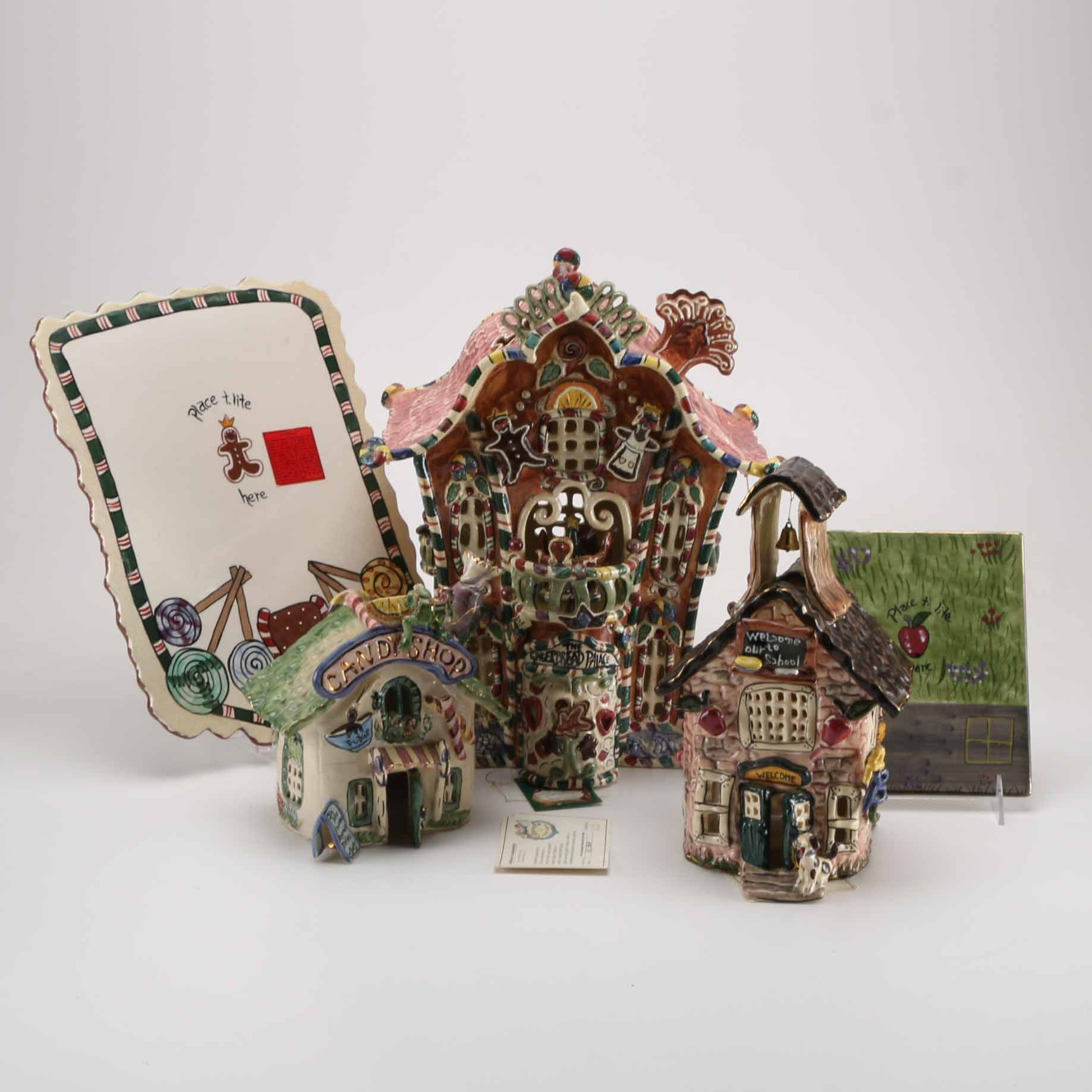Handcrafted Clayworks Houses by Heather Goldminc