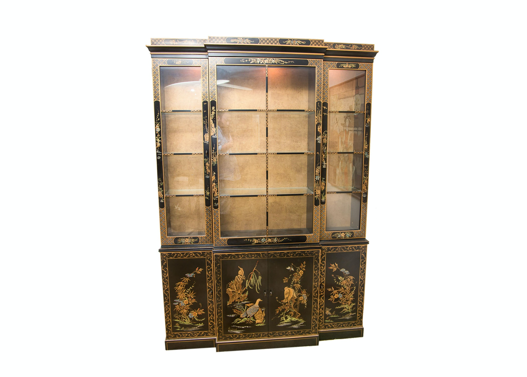 Gentil Mid Century Chinoiserie Drexel Heritage China Cabinet ...