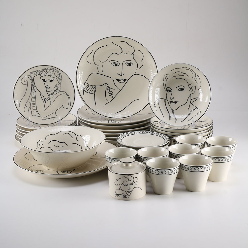 """Sango """"Francesca"""" Handcrafted Dishes and Cups"""