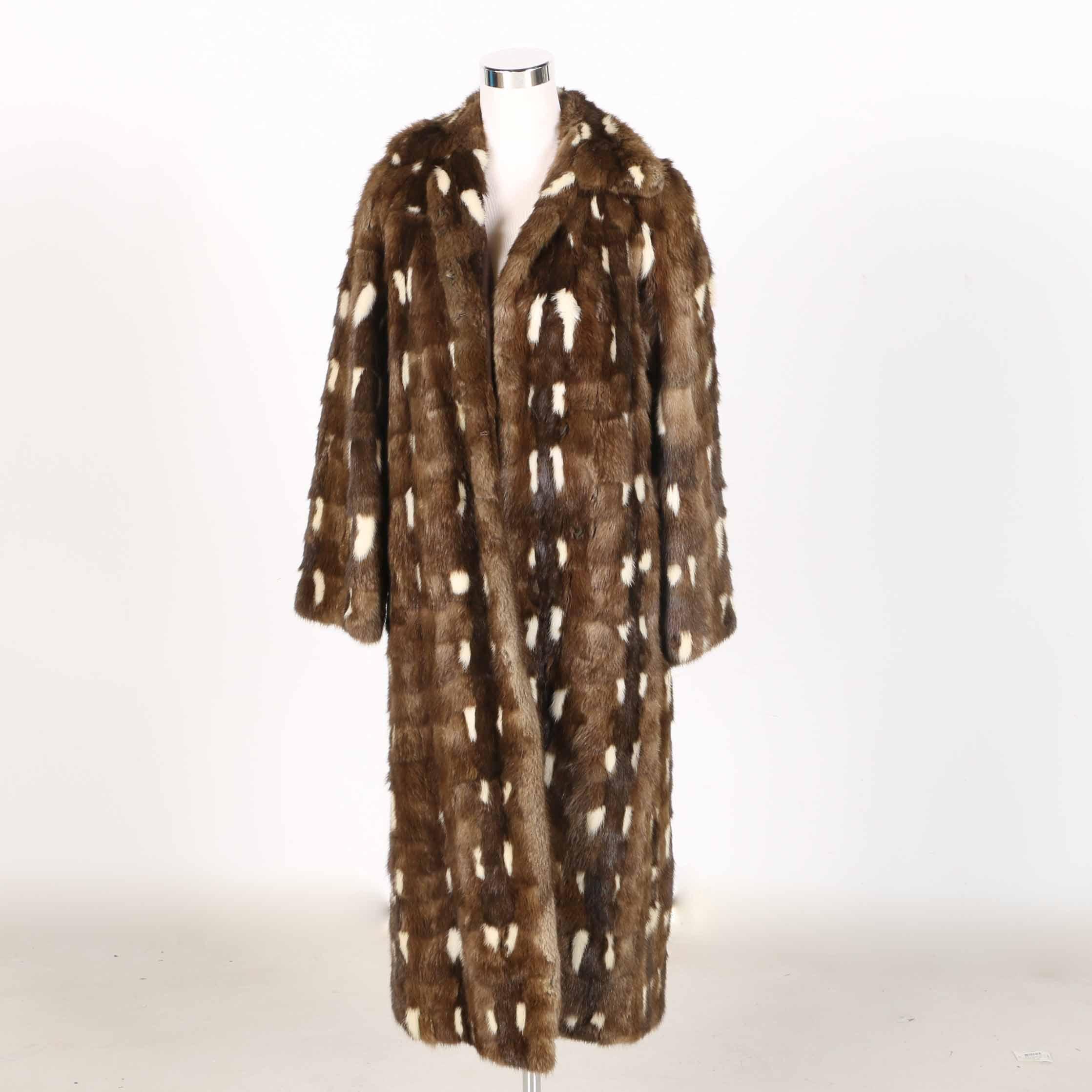 Zinman Mix Mink Fur Coat