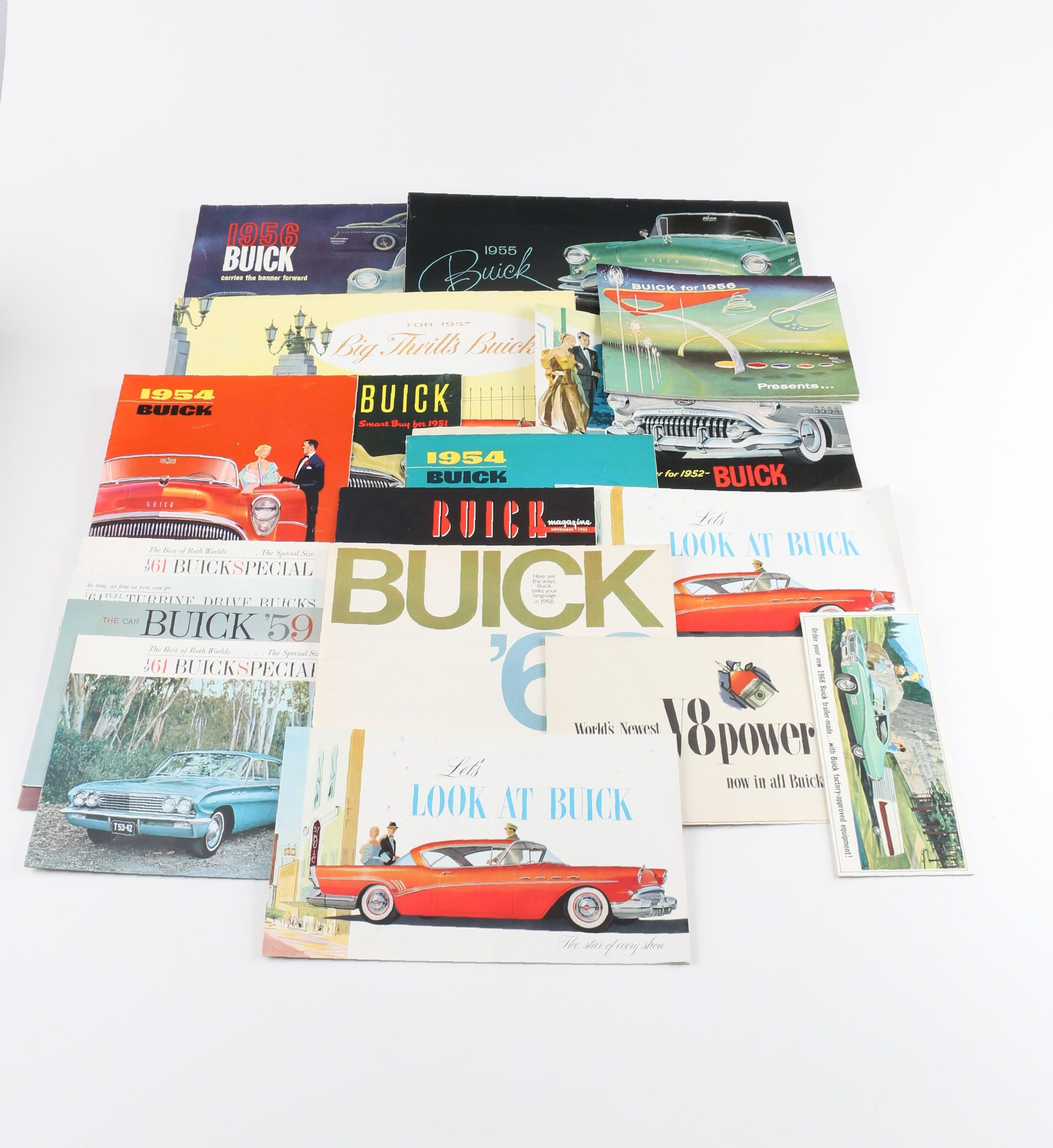 Assortment of Vintage Buick Dealership Brochures