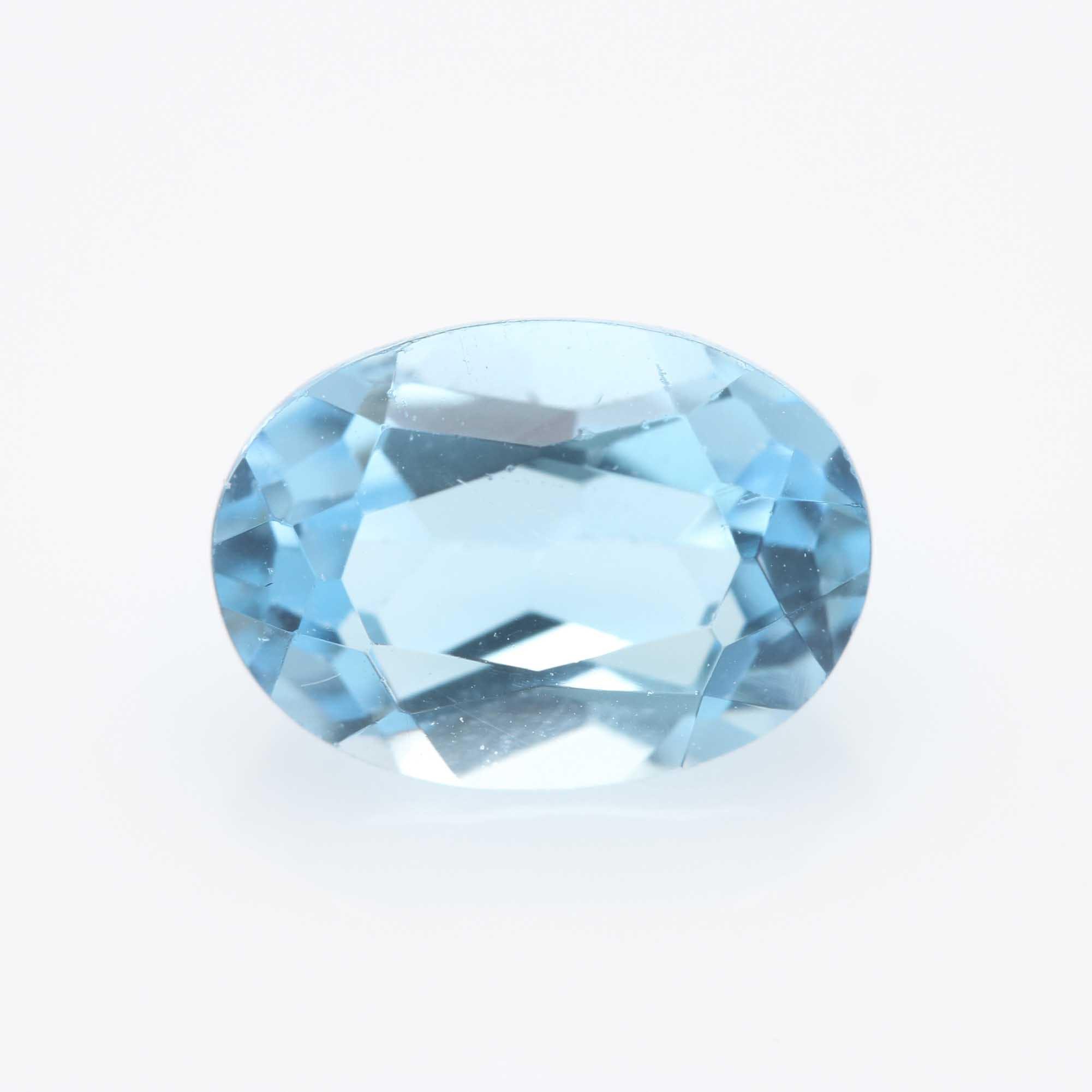 Oval Blue Topaz Stone