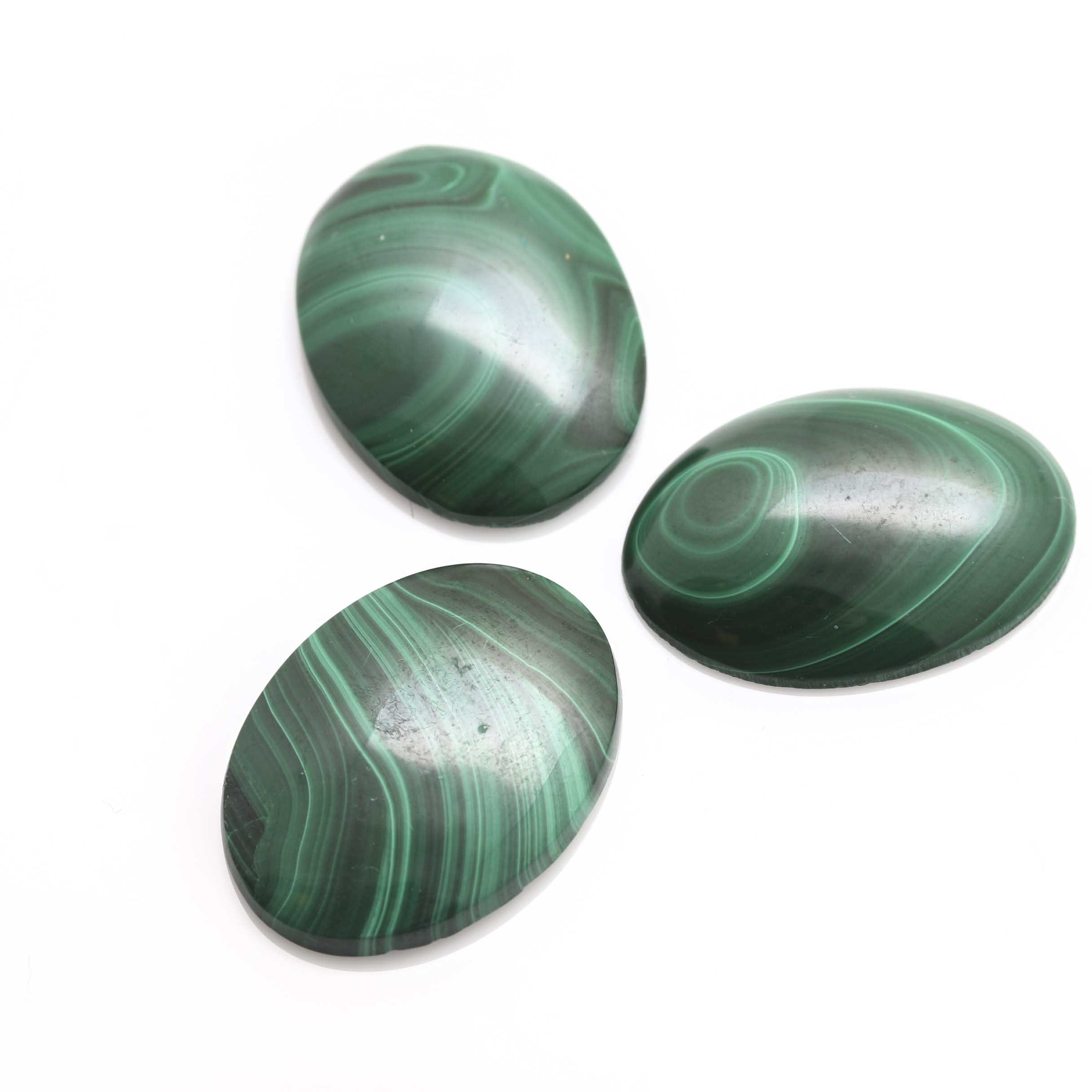 Loose Oval Malachite Cabochons