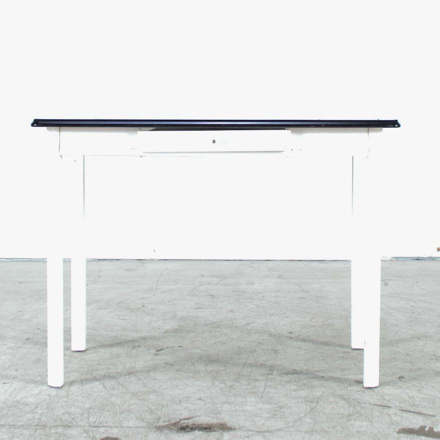 Vintage White Enamel Top Kitchen Table