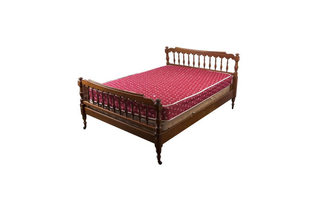 Full Size Dark Maple Wood Bed Frame