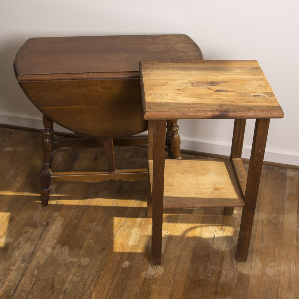 Pair  of Wood Accent Tables