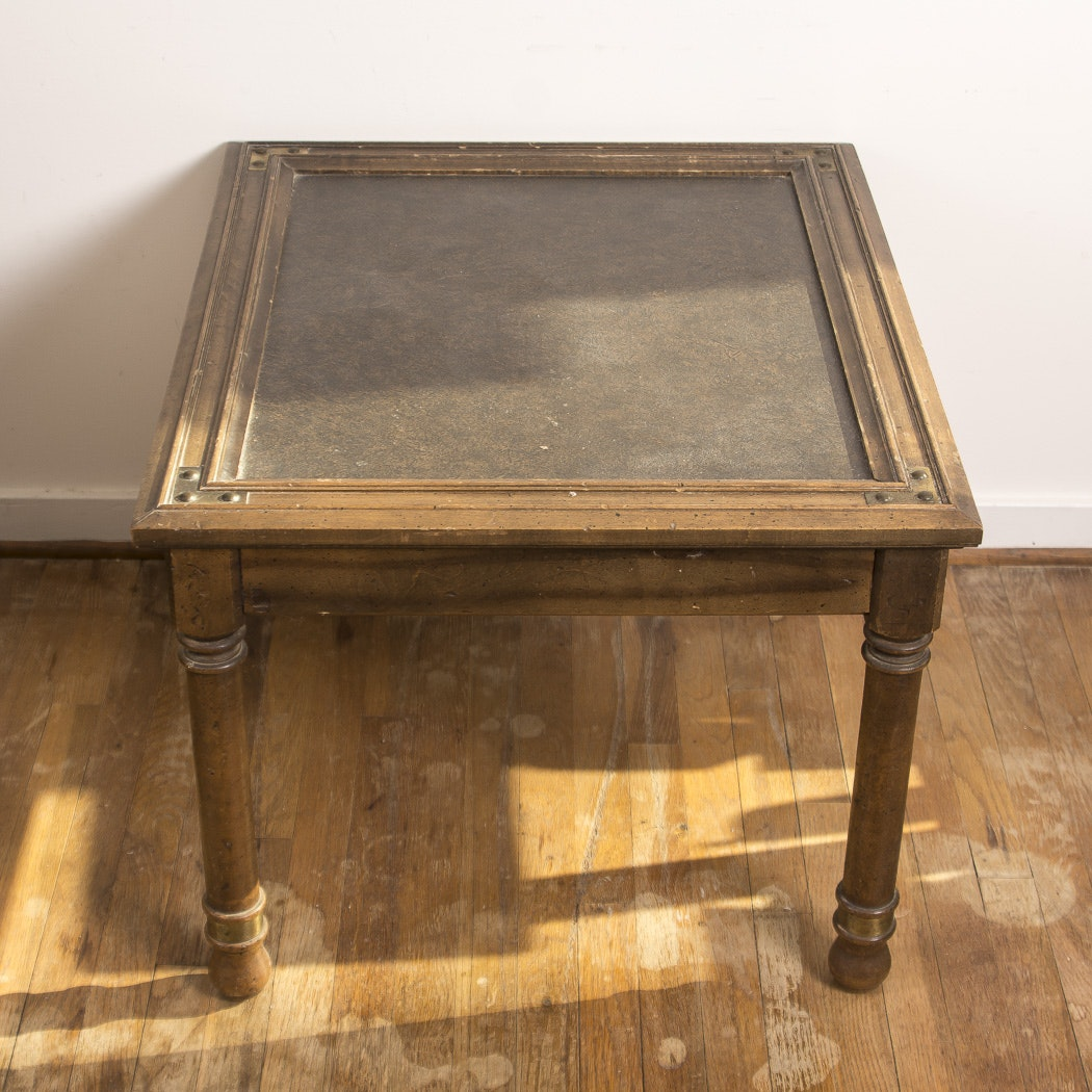 Square Wood Accent Table