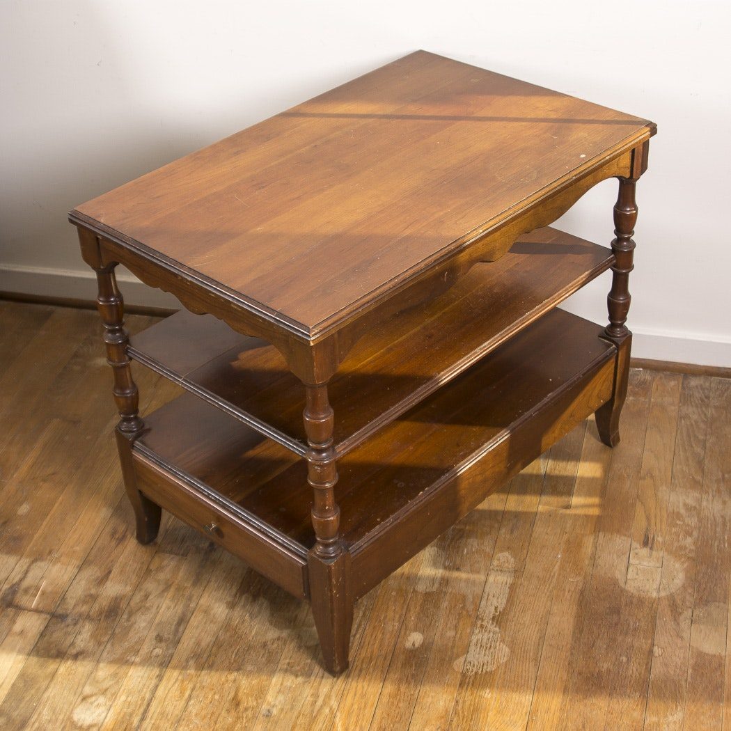 Two -Tiered Wood Accent Table