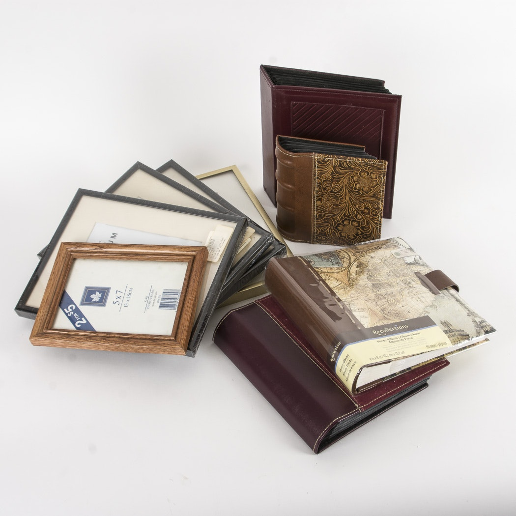 Collection of Photo Albums and Picture Frames