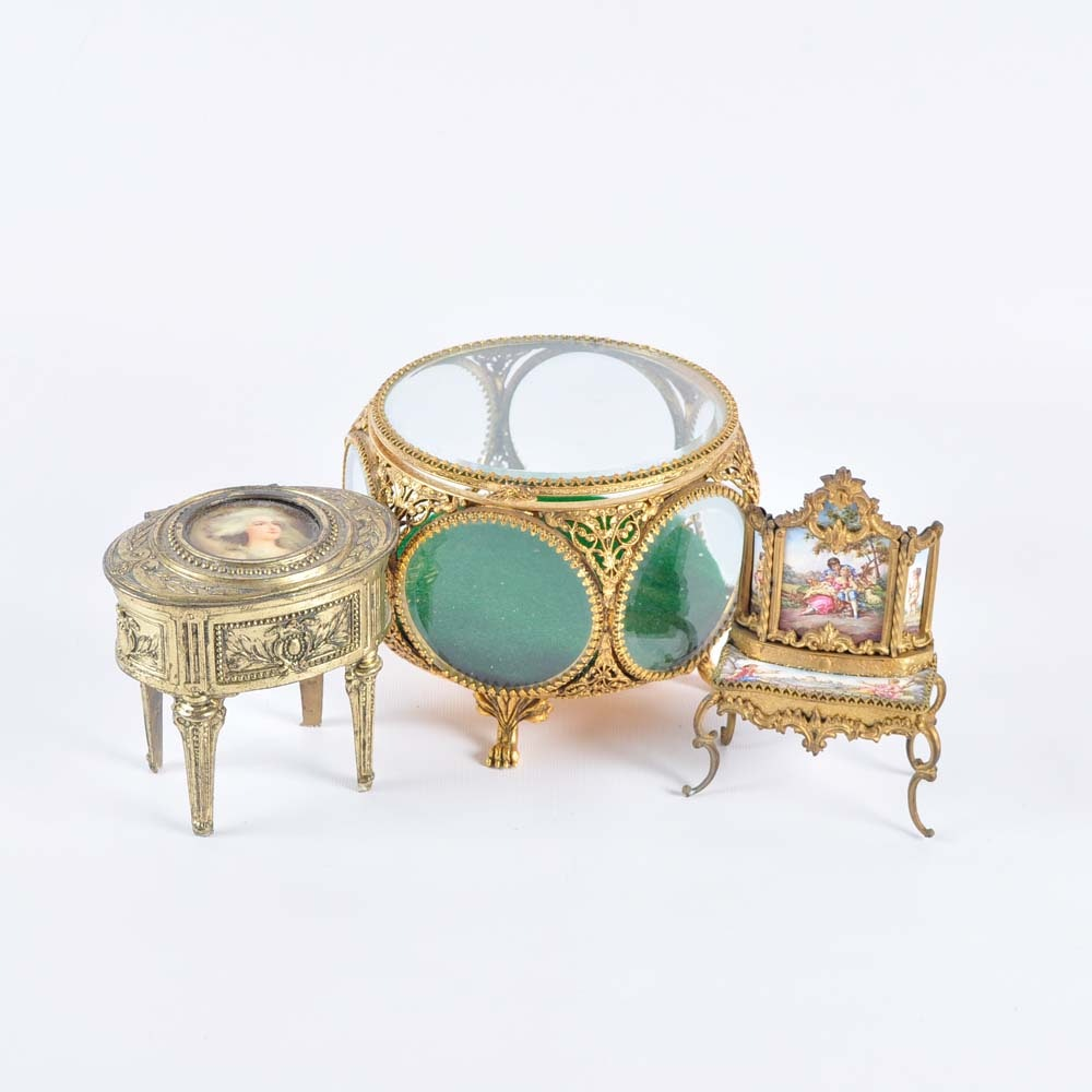 Antique and Vintage Jewelry Caskets