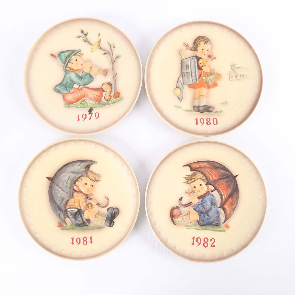 MJ Hummel Commemorative Plates 1979-1982