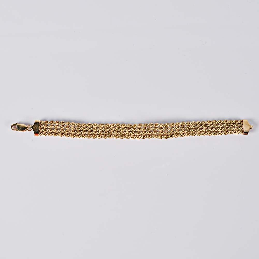 10K Four Strand Rope Bracelet