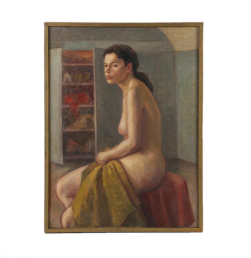 Vivian Reed Oil Painting on Canvas Nude Figure