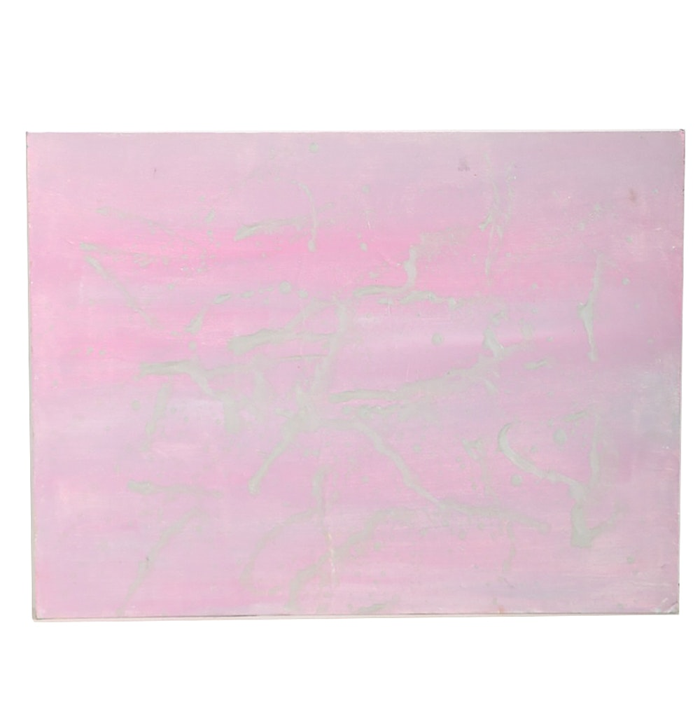 C. Esterházy Original Acrylic Painting on Board Abstract Composition