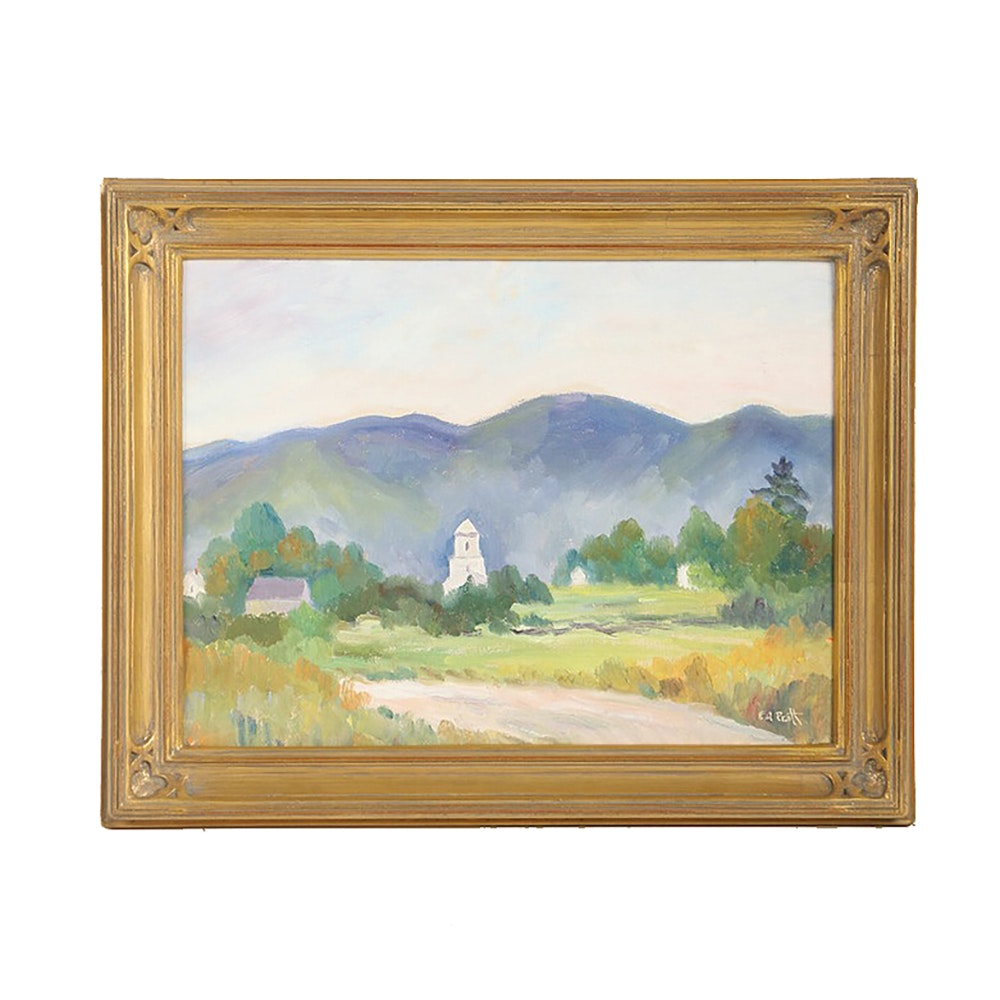 Emmett A. Pratt Original Oil Painting on Board Landscape