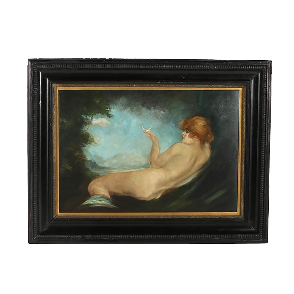 Oil Painting on Canvas Reclining Female Nude