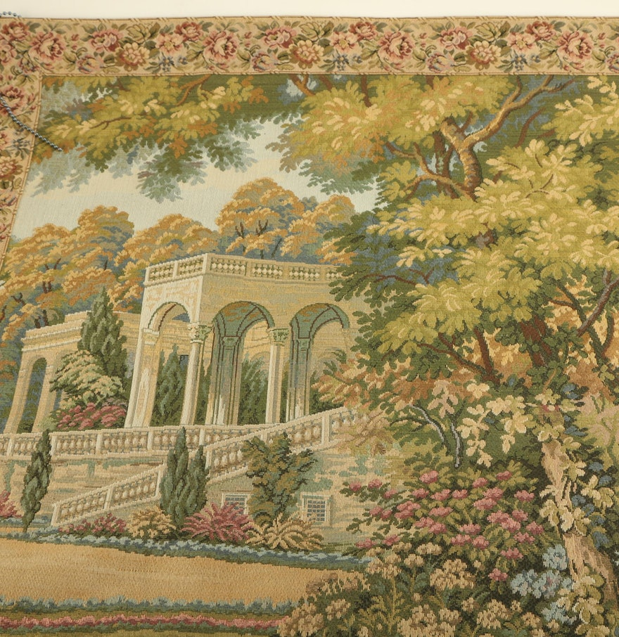 Decor de france lake como tapestry ebth for Art and decoration france