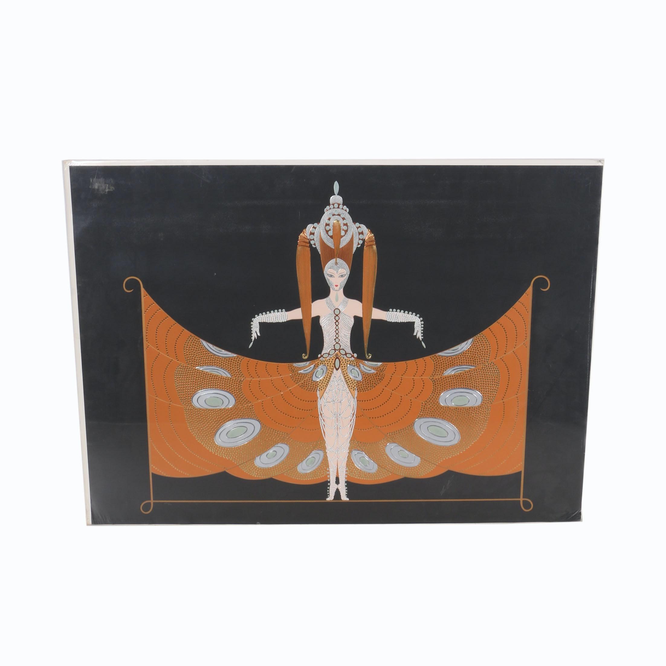 "Erté 1987 Limited Edition Serigraph ""Hindu Princess"""