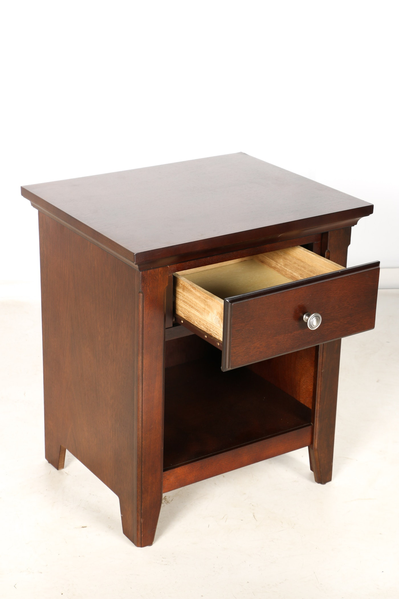 Walnut end table with drawer ebth for C table with drawer