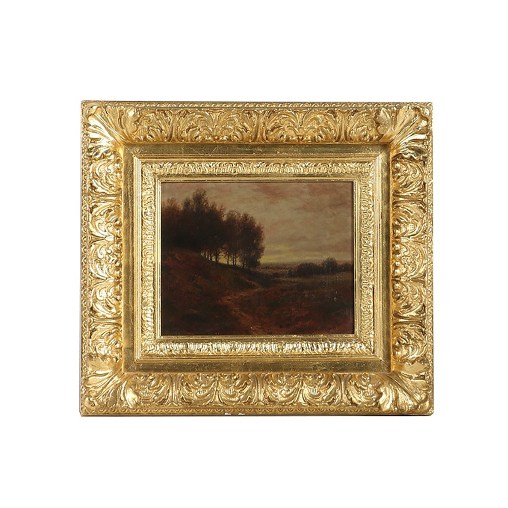 Oil Painting on Canvas Tonalist Style Landscape