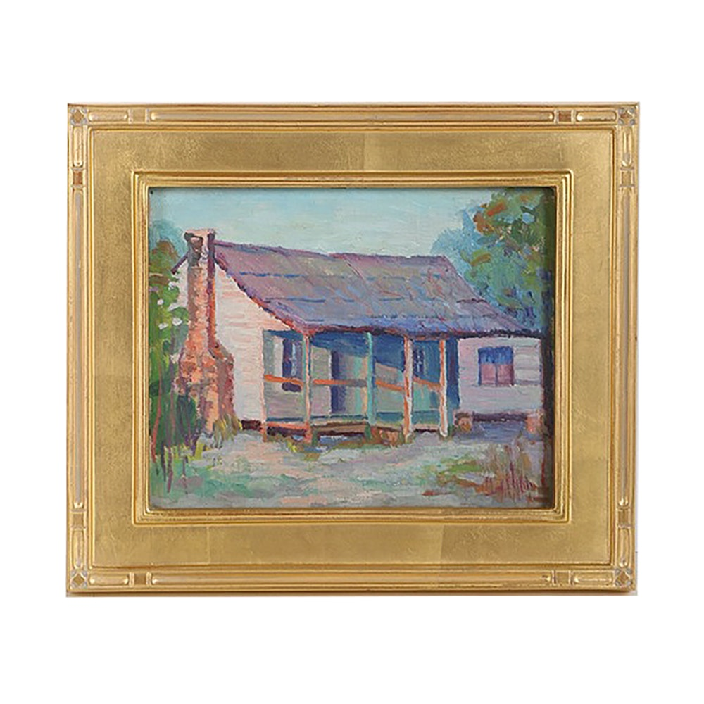 Oil Painting on Canvas Panel of House Exterior