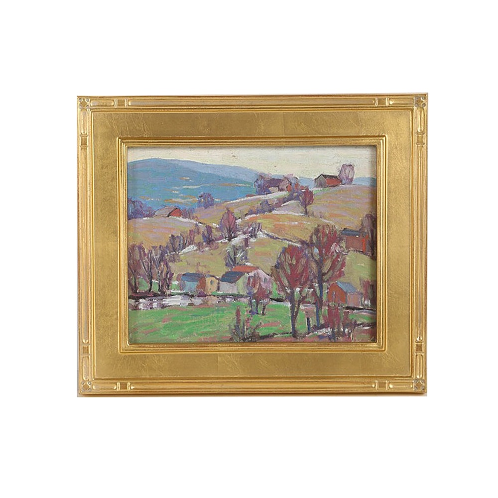 Original Oil Painting on Board Landscape