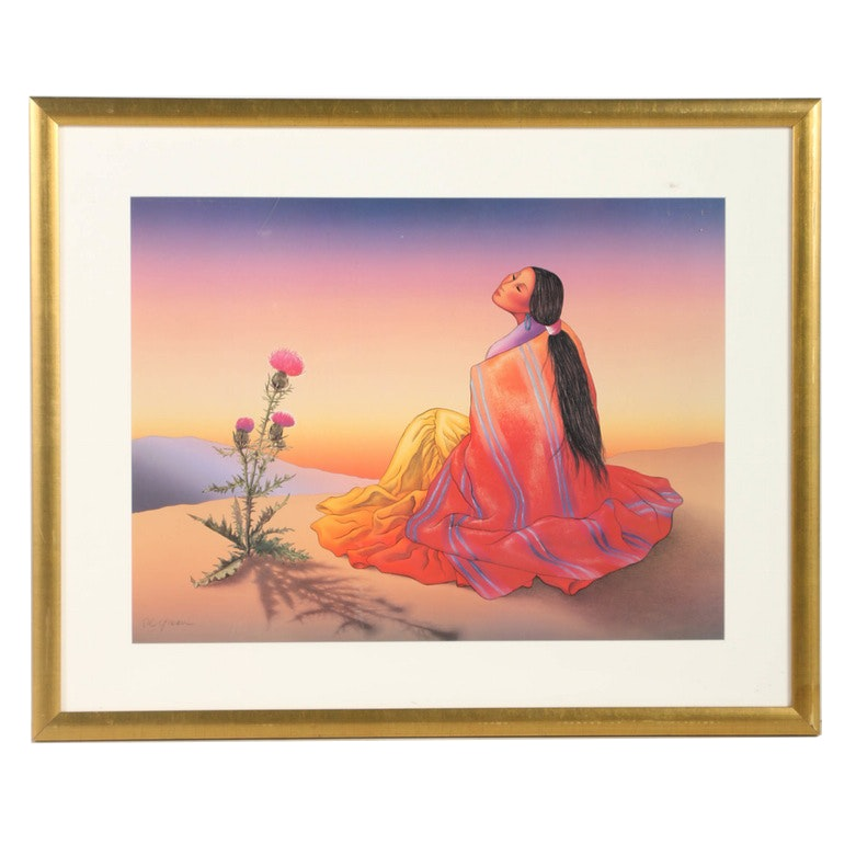 "Rudolph Carl Gorman Giclée Print on Paper ""Navajo Dawn"""