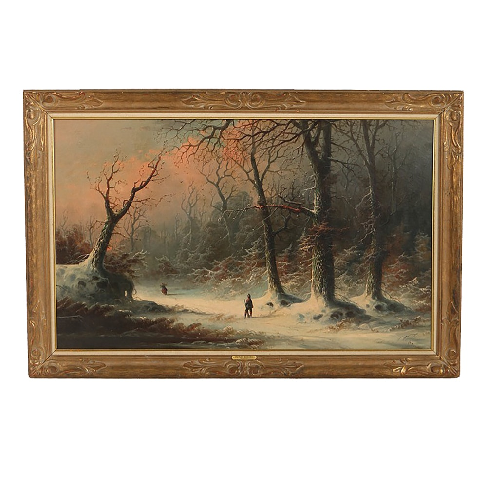 Charles Bondell Oil Painting on Canvas Landscape