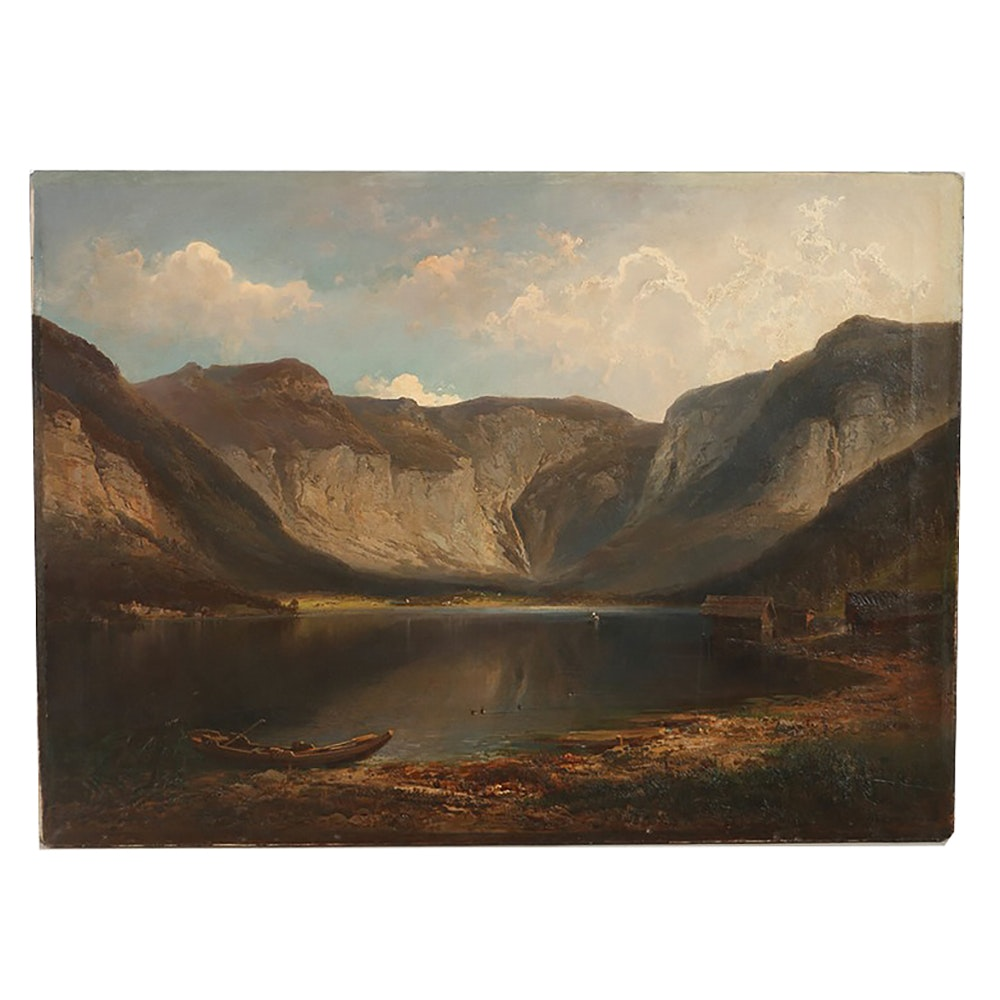 Ferdinand Feldhütter Oil Painting on Canvas Landscape