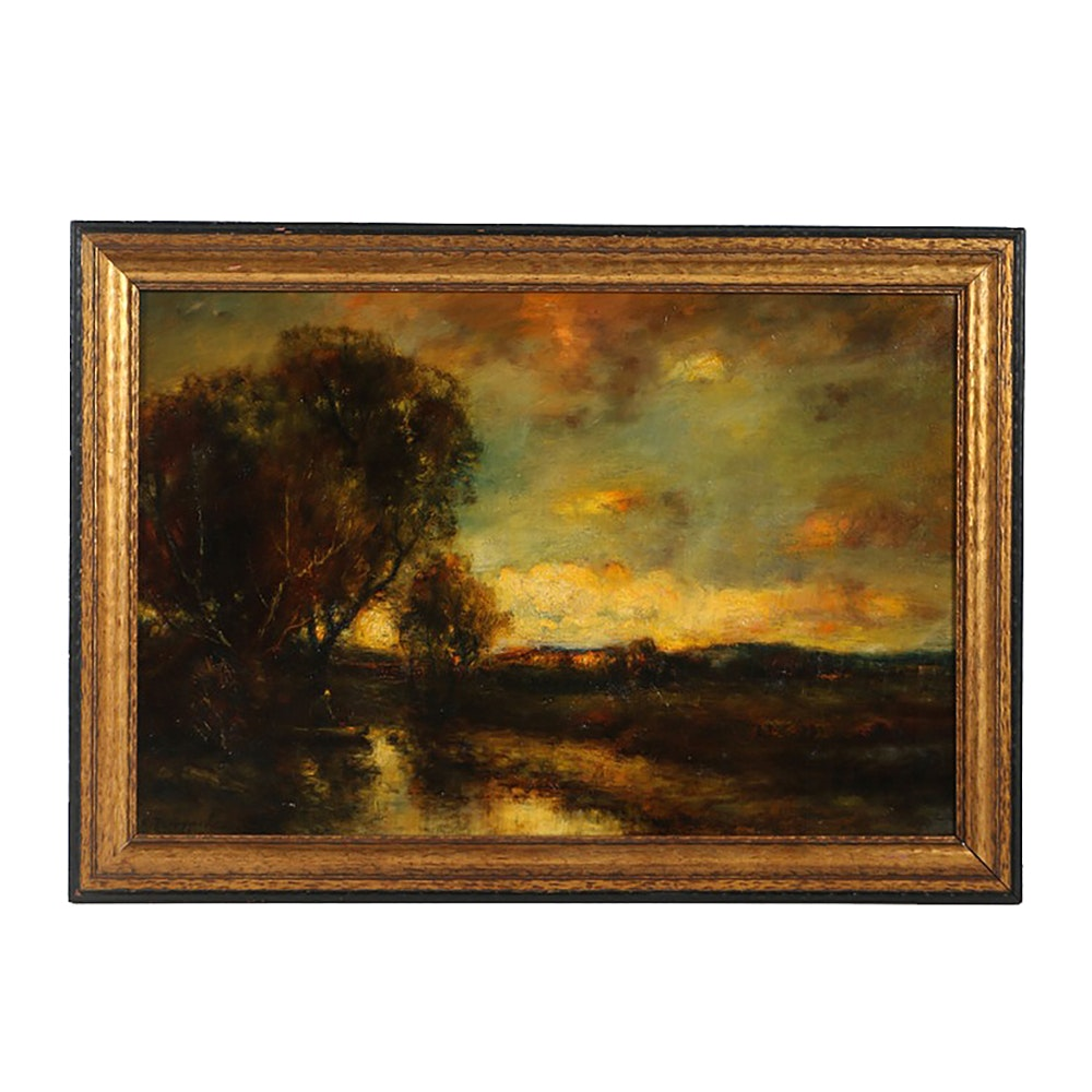 Charles Appel Oil Painting on Canvas Romantic Landscape