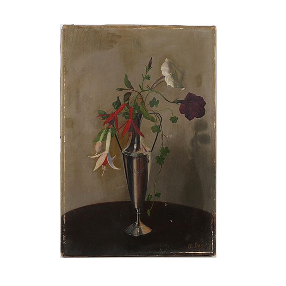 A. Daniel Oil Painting on Canvas Floral Still life