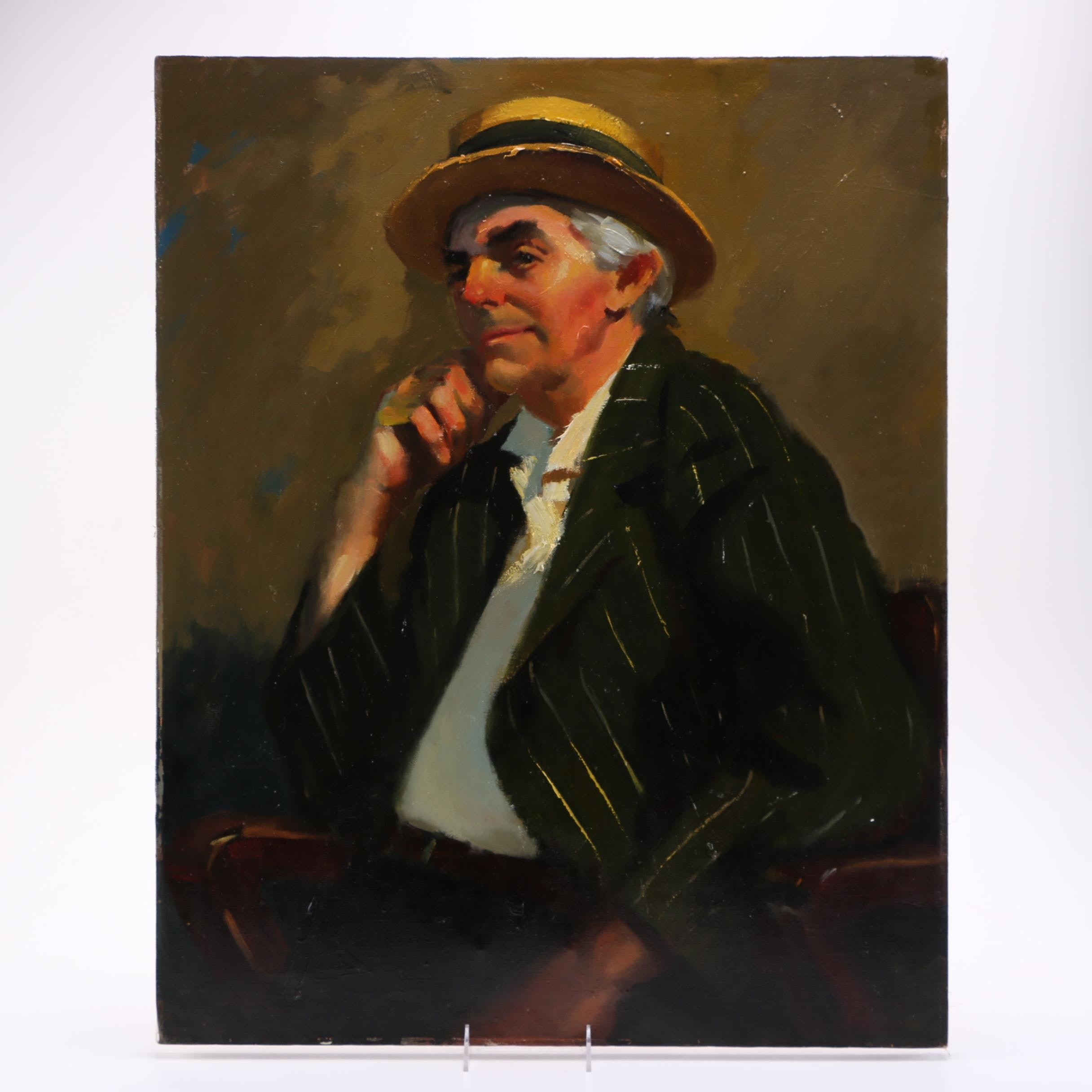 Don Shreves Oil Painting on Canvas of Portrait