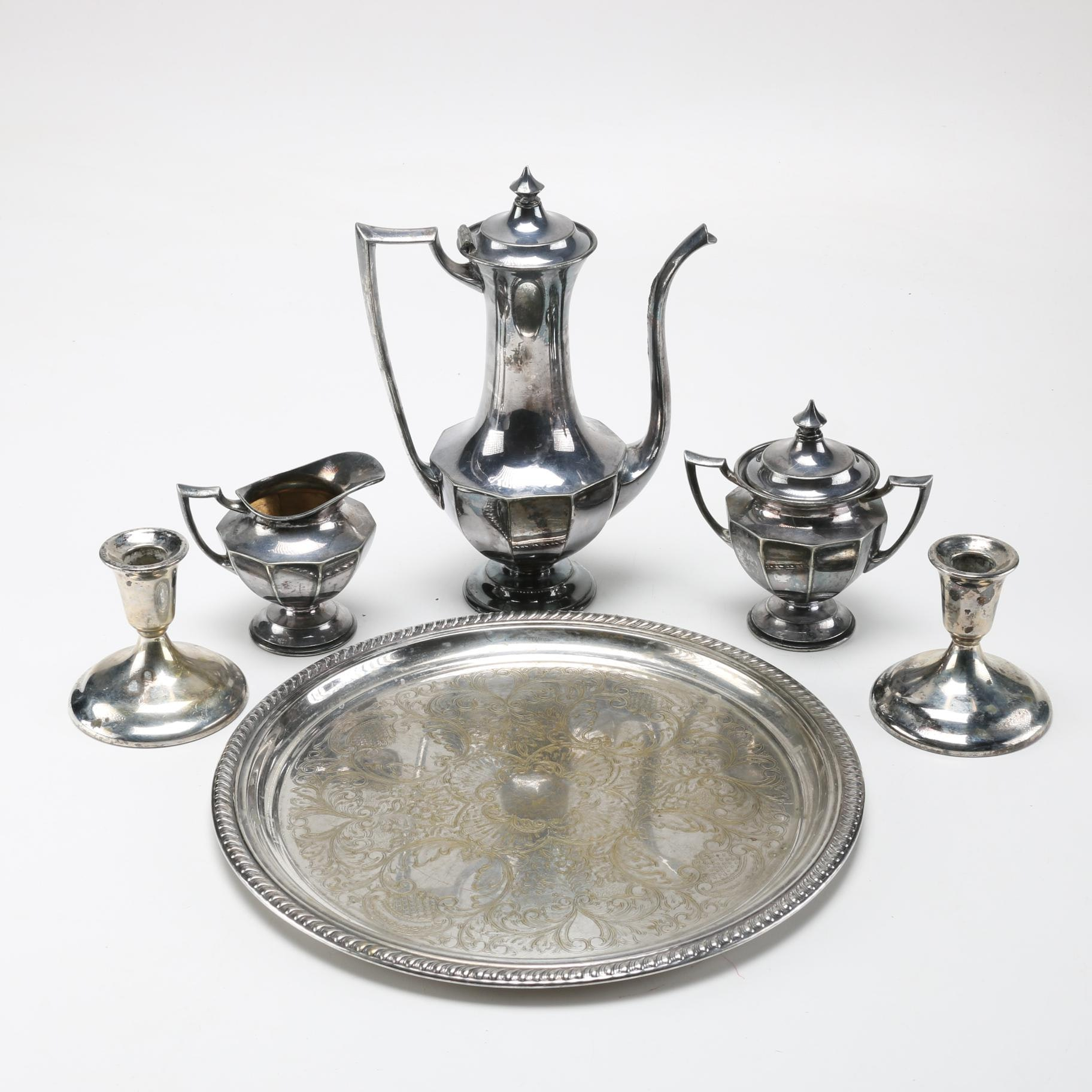 Assortment of Silver Plated Tableware