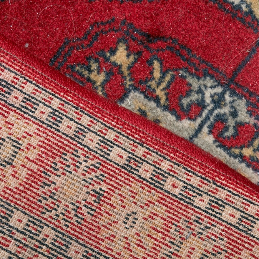 Hand Knotted Indo Persian Obeetee Wool Area Rug Ebth: Bellestan Worsted Wool Bokhara-Style Runner : EBTH