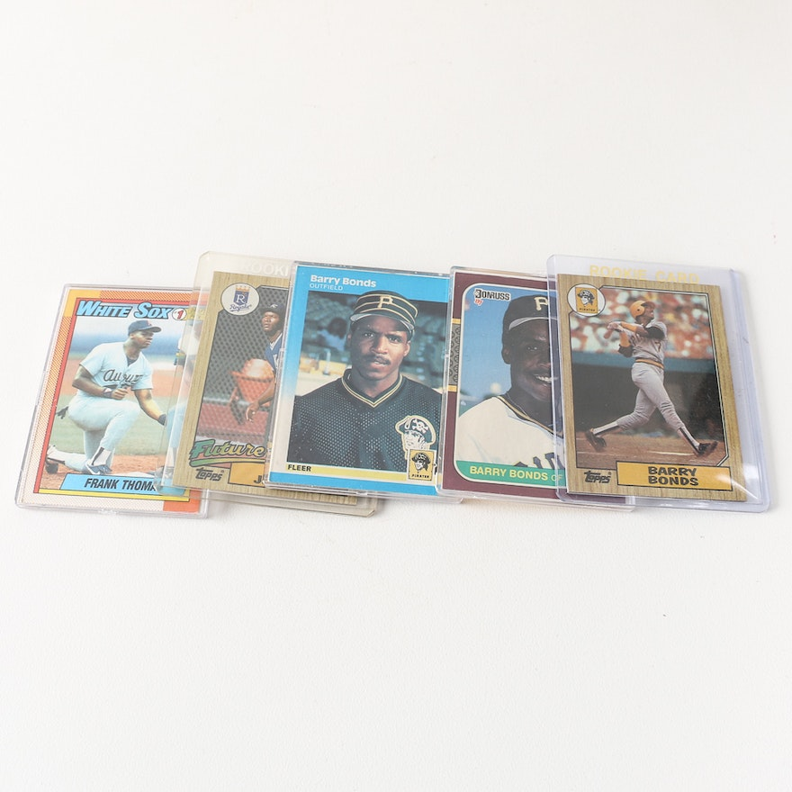 1987 Topps Barry Bonds Rookie Card And More