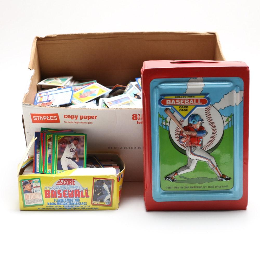 Collection Of Baseball Cards And Baseball Card Holder Ebth