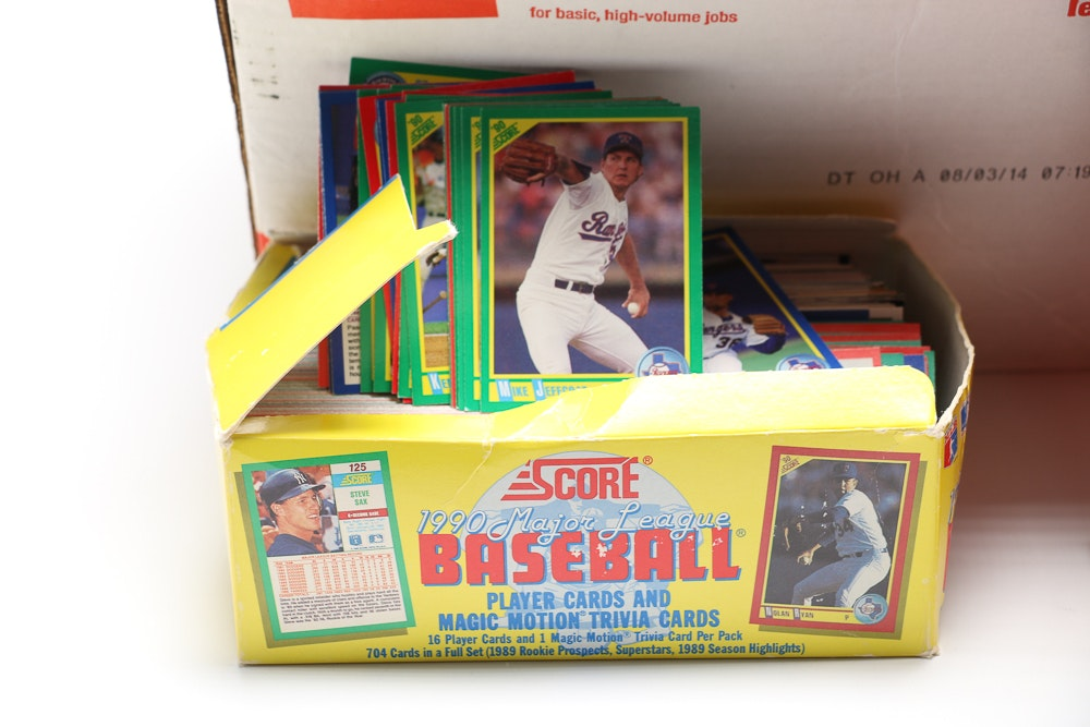Collection Of Baseball Cards And Baseball Card Holder Ebth